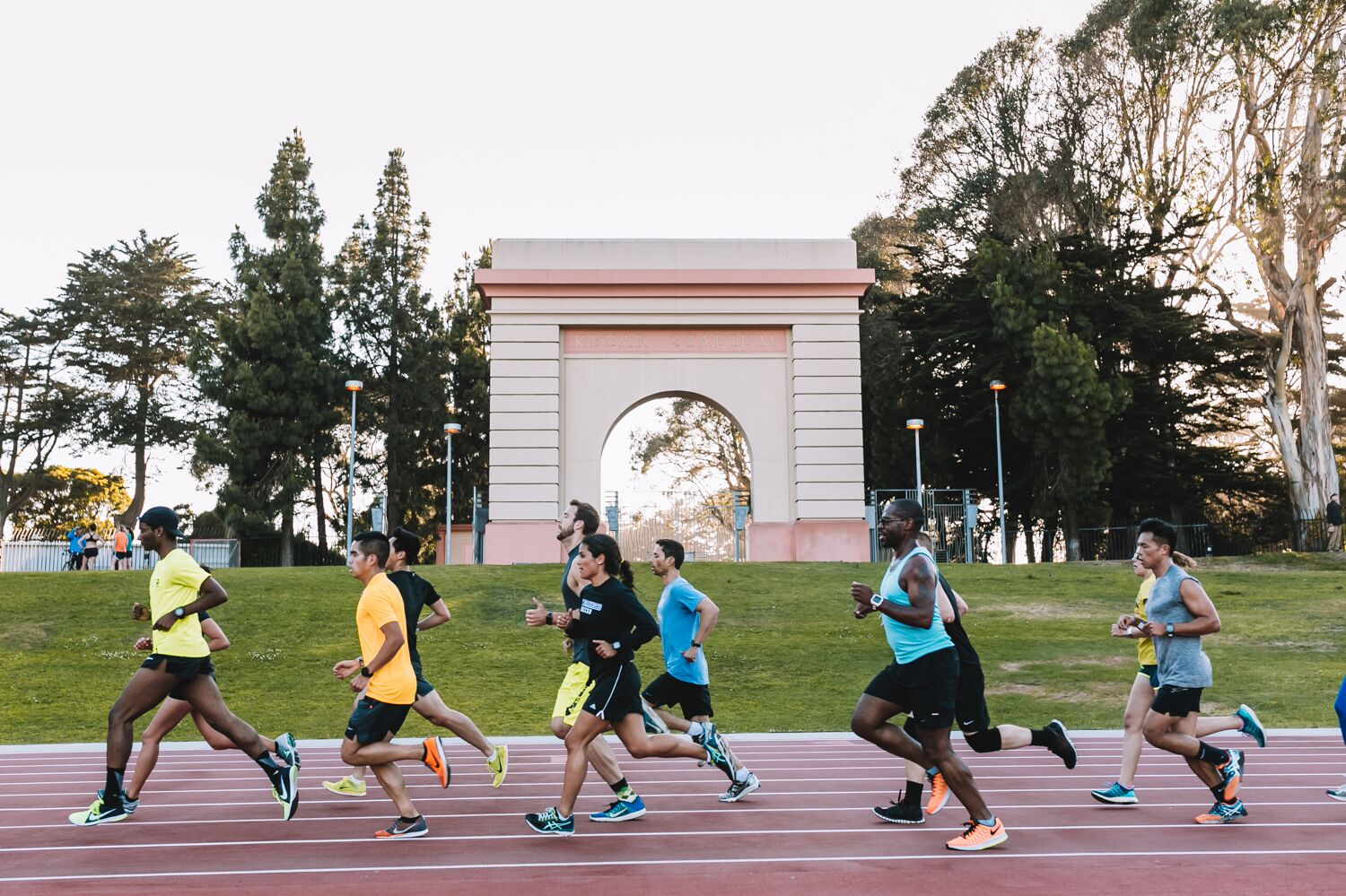 Nike Run Club track workout, July 2016, photo credit: Spencer Cotton, Nike Run Club IIRC